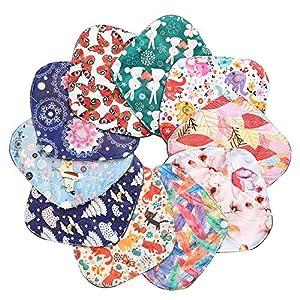 7Pcs Resuable Menstrual Pad Set Including 1Pc Mini Wet Bag + 6Pcs Waterproof Mama Cloth Sanitary Napkin Pads Menstrual Pads