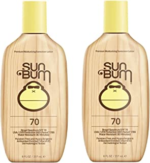 product image for Sun Bum Original SPF 70 Sunscreen Lotion | Vegan and Reef Friendly (Octinoxate & Oxybenzone Free) Broad Spectrum Moisturizing UVA/UVB Sunscreen with Vitamin E | 8 oz | 2 Pack