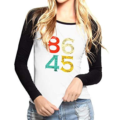 04549067 Amazon.com: 86 45 Anti Trump Women's Raglan Long Sleeve Baseball Shirt Slim  Fit: Clothing