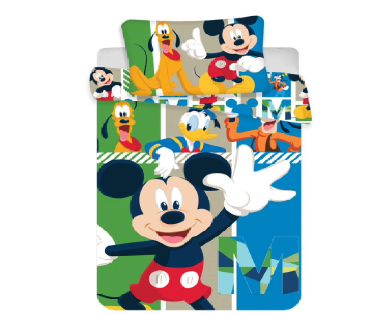 100x135 cm Cotton Jerry Fabrics Mickey /& Friends 18BS086 Bed set kid size Size 40x60