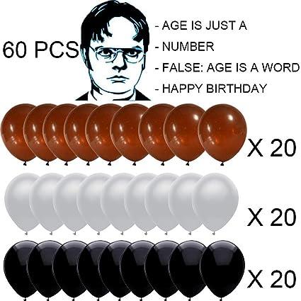 Amazon.com: Dwight K. Schrute - Globos de cumpleaños (60 ...