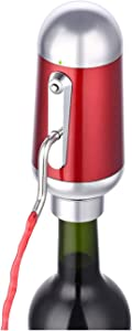 Electric Wine Aerator Pourer, Portable One-Touch Wine Decanter and Wine Dispenser Pump for Red and White Wine Multi-Smart Automatic Wine Oxidizer Dispenser USB Rechargeable Spout Pourer.