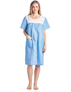 7cd10b80b6 Casual Nights Women s Short Sleeve Snap-Front Lounger Duster House Dress