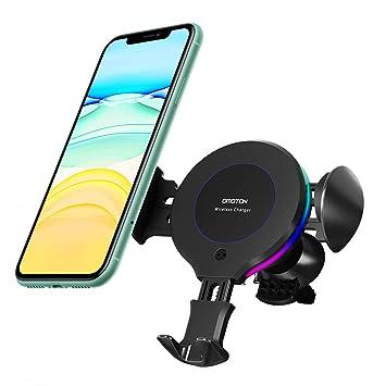 Omoton Cargador Inalámbrico para Coche, Qi Carga Rápida, Ventilación para Automóvil,10W Compatible con Samsung S10/S10e/S10+/S9/S8/S8+/Note 8,7.5W ...