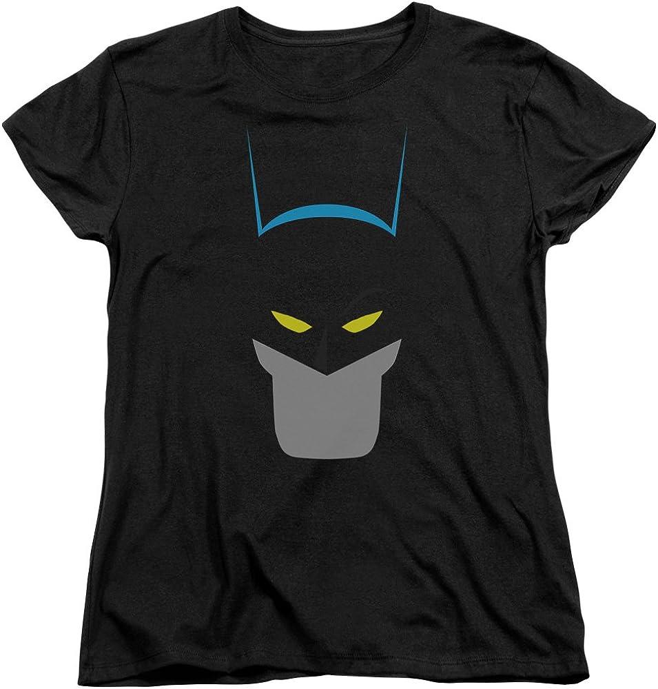 Wicked Tees Womens BATMAN Short Sleeve SIMPLIFIED Large T-Shirt Tee