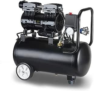 Bomba de Aire El Compresor Libre De Aceite, 220V Silencioso Sin Aceite del Compresor De Aire, 800W Sin Aceite del Compresor De Bajo Ruido 30L, Electroválvula De Seguridad Decoracion: Amazon.es: Bricolaje y