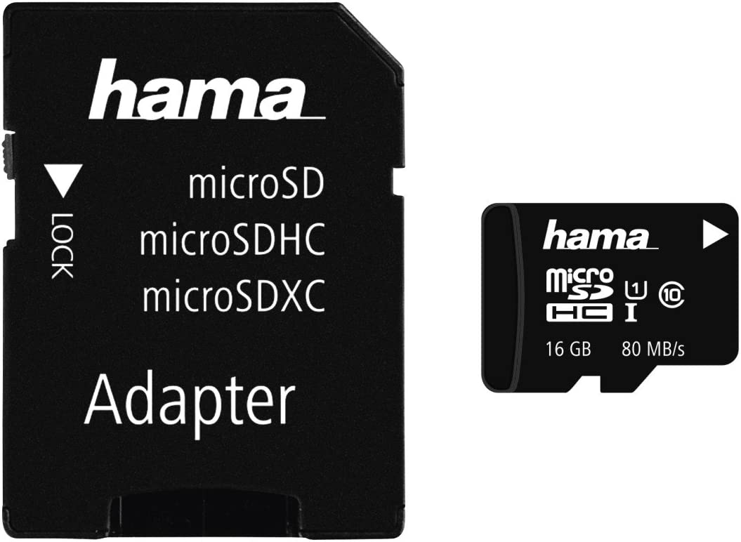 Hama Microsdhc 16gb Class 10 Uhs I 80mb S Karte Inkl Sd Adapter