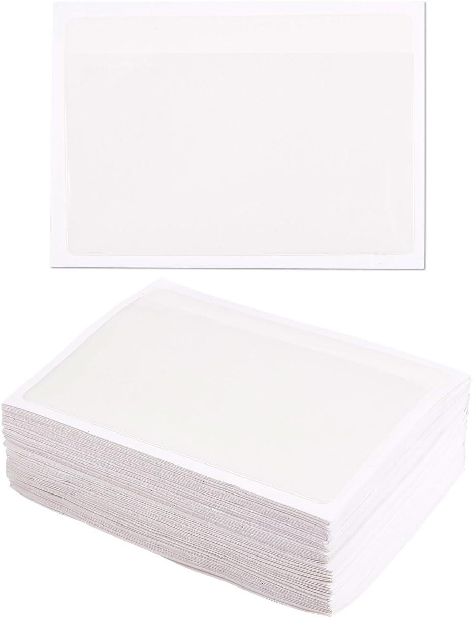 /ideale per organizzare e proteggere il Index Cards/ 100-pack autoadesive indice di tasche con apertura laterale/ /plastica trasparente 9,1/x 13,3/cm