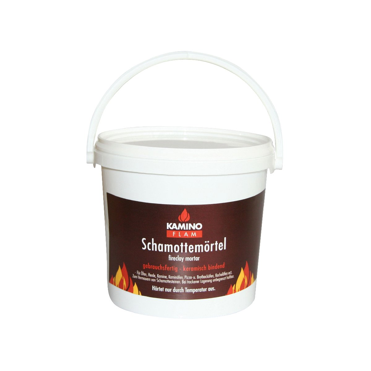 Kamino-Flam - Mortero refractario de chamota, Cemento refractario para chimeneas, barbacoas, estufas y hornos - resistente a altas temperaturas - 1 kg: ...