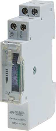 Temporizador diario analógico para montaje en panel, en pasos de 24 horas 15 min, 230 V, max. 3500 W. Segmento empotrable con caja de distribución: Amazon.es: Iluminación