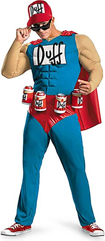Unbranded The Simpsons Duffman Duff Man Beer Classic Muscle Mens Adult Costume
