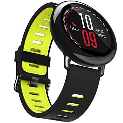 Woodln 22MM Straps Replacement Fitness Wristband Smart Watch Strap Band for Pebble Time Asus Zenwatch 1st 2nd / Moto 360 2nd Mens 46mm / G Watch R/LG ...