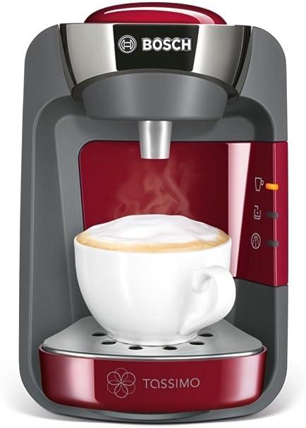 Bosch TAS3203GB Totalmente automática Máquina de café en cápsulas 0.8L Cereza - Cafetera (Máquina de café en cápsulas, 0,8 L, 1300 W, Cereza): Amazon.es: Hogar