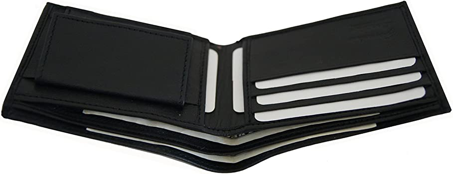 Amazon.com: AG Monederos Piel Auténtica Bifold Wallet con ...