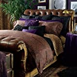 Lauren by Ralph Lauren New Bohemian Purple Velvet EURO Pillow Sham