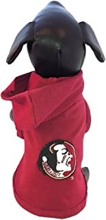 product image for NCAA Florida State Seminoles Collegiate Cotton Lycra Hooded Dog Shirt (Team Color, Tiny)