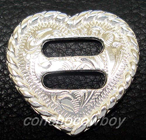 Conchos for Clothes Western Horse Headstall Saddle TACK Rope Edge Heart Slotted Concho 1-1/4