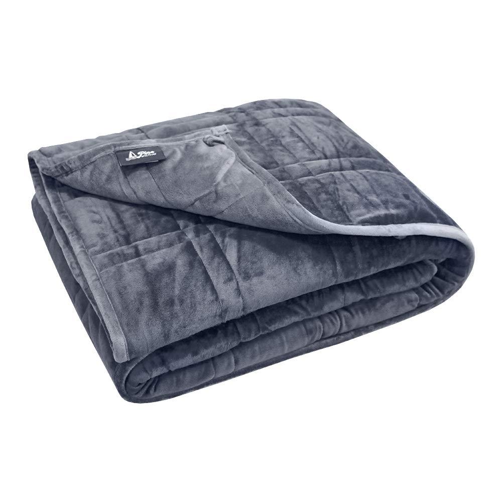 Pine & River Ultra Plush Weighted Blanket - | Minky Warm Luxury - (60''x80'', 15 lb) | Designer Blanket | One Piece Construction | Enjoy Quality Sleep Anywhere