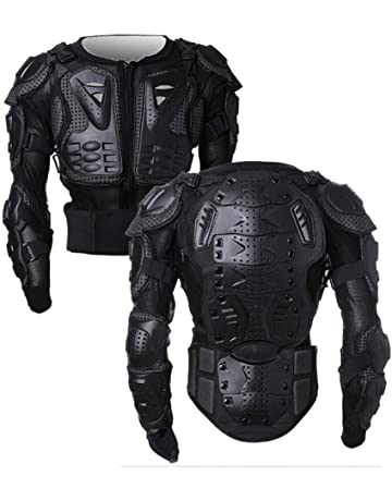 be3a60379 Motorcycle Full Body Armor Protector Pro Street Motocross ATV Guard Shirt  Jacket with Back Protection Black