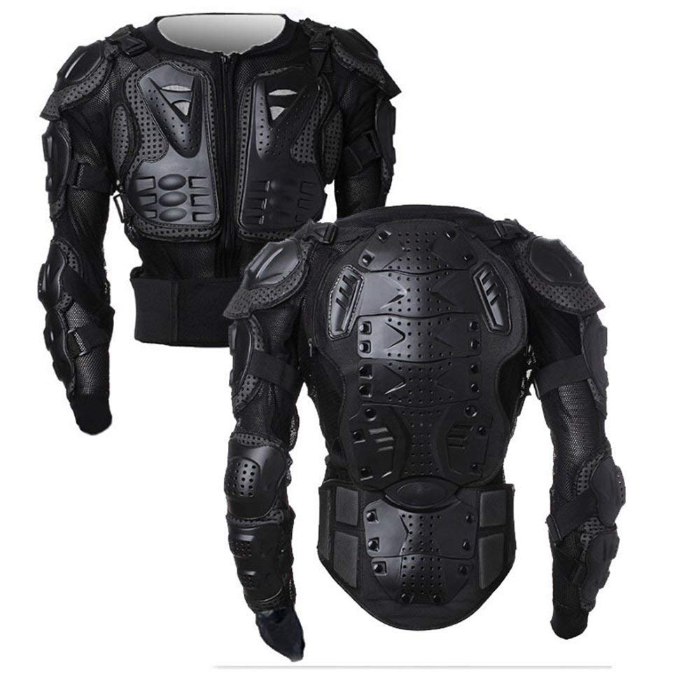Motorcycle Full Body Armor Protector Pro Street Motocross ATV Guard Shirt Jacket with Back Protection Black 3XL by OHMOTOR