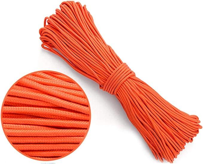 Paracord Seil 100m aus Nylon reißfestes Allzweckseil Outdoor Camping 4mm