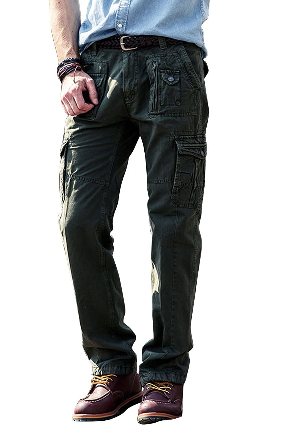 3db1184d GREAT FIT - True Size 29-40,4 color choices.Relaxed fit, Multi Pocket  multipurpose cargo pants.