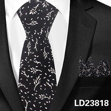 DYDONGWL Corbata Fina Hombre,Corbatas de algodón clásicas para ...