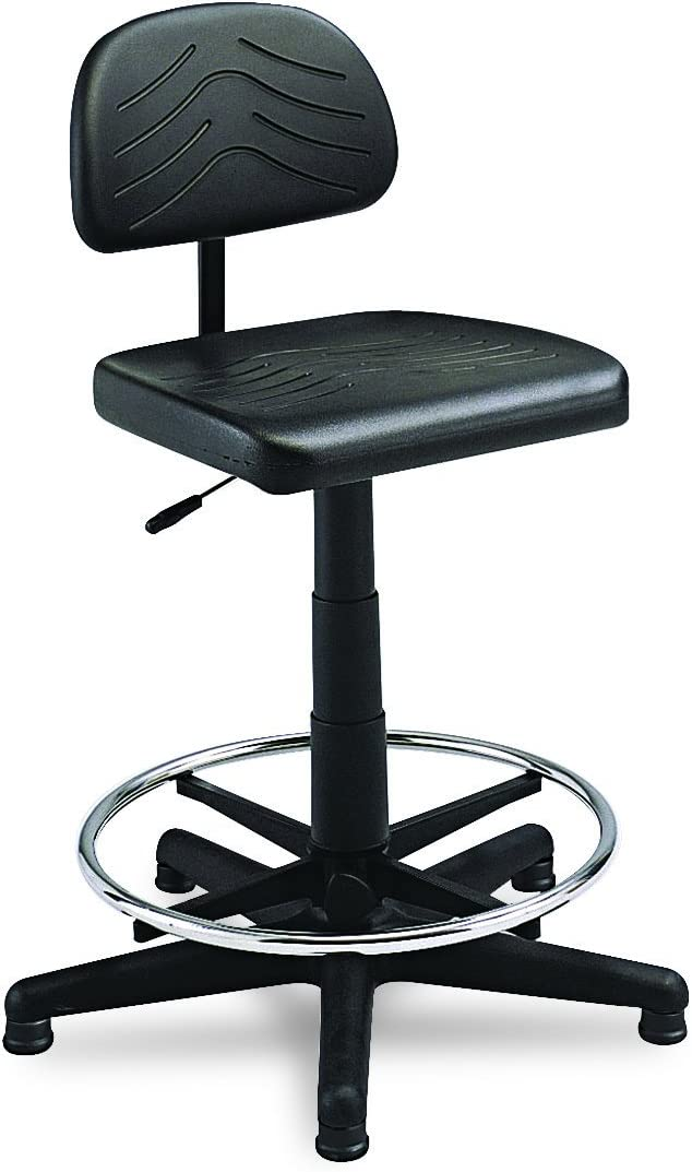 Safco Products Task Master Economy Workbench Chair (Additional options sold separately), Black