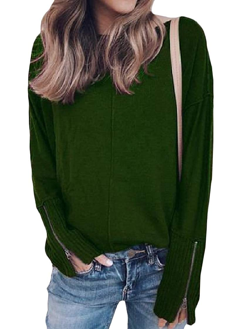 Lutratocro Womens Blouse Casual Pullover Long Sleeve Crewneck Sweatshirts