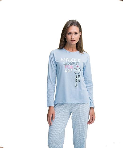 Pijama mujer entretiempo pantalón largo y manga larga (fino) Even 7856 (xxl)