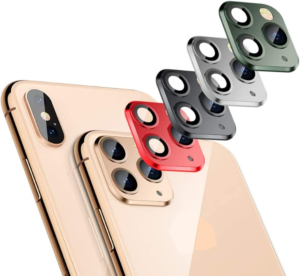 Tomcrazy Camera Lens Gap Sticker Applicable for iPhone Xs MAX X Seconds Change to for iPhone 11 PRO MAX Metal Lens Cover Protector Gold