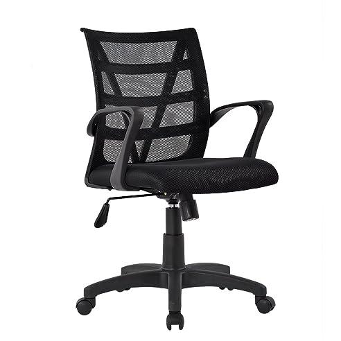 Bürostuhl design rollen  Amazon.de: LANGRIA Schreibtischstuhl Rollen Netz Bürostuhl ...