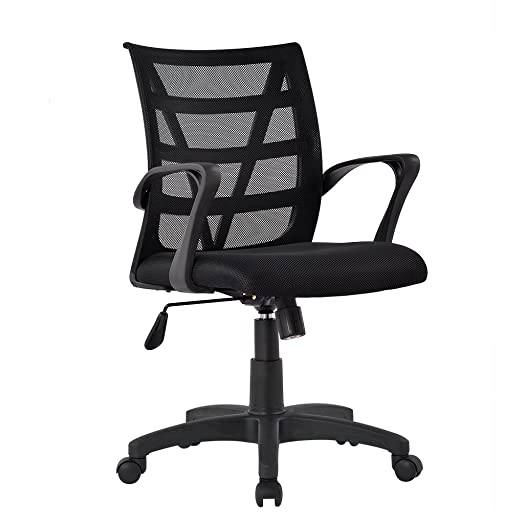 LANGRIA Comfortable V Shape Medium Back Mesh Home Office Desk ...