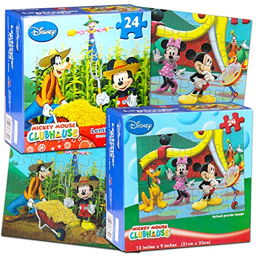 Disney Jigsaw Puzzles for Kids - Mickey Mouse 24 Piece Puzzles (Set of 2 Puzzles) by Disney Mickey Mouse Clubhouse Puzzles Disney Mickey Mouse Jigsaw Puzzles