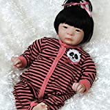 Paradise Galleries Realistic Asian Reborn Baby Doll Panda Twin Girl, 17 inch Newborn, GentleTouch Vinyl & Weighted Body