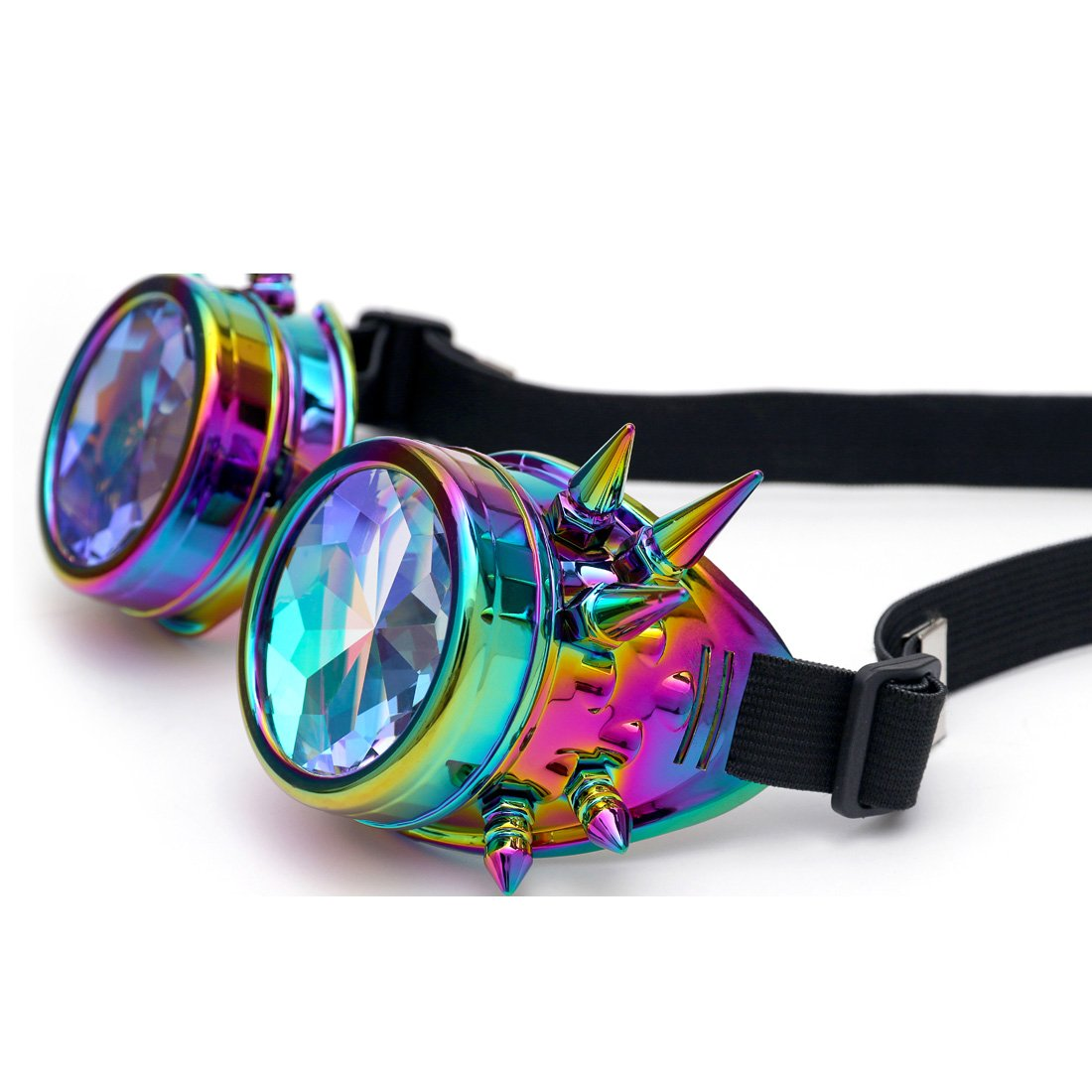 FIRSTLIKE Festivals Kaleidoscope Rainbow Glasses Prism Sunglasses Goggles by FIRSTLIKE (Image #4)