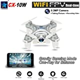 GoolRC Cheerson CX-10W 4CH 6-Axis Gyro Wifi FPV RTF Mini RC Quadcopter with 0.3MP Camera