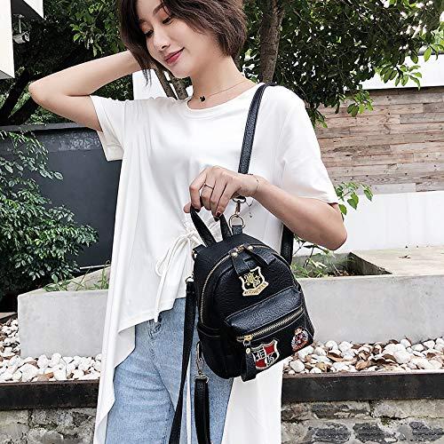 coréenne Sac WSLMHH Casual de du Fashion Vent Petite Dos Rose Sauvage à marée Dos à Petit Version marée PU Sac rétro CC0aW54
