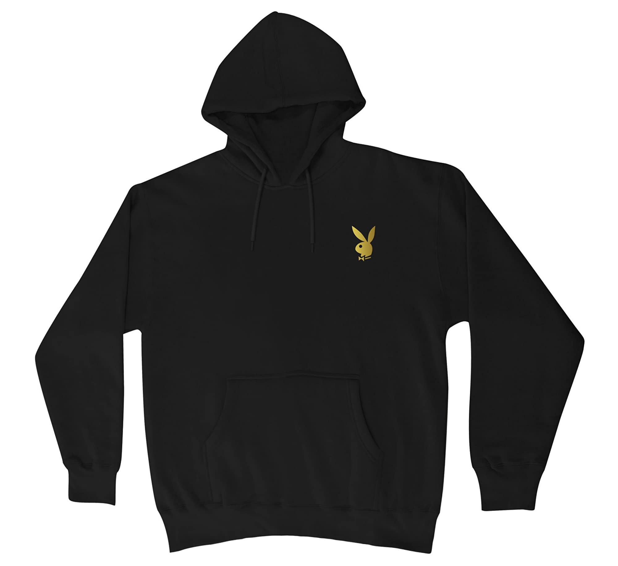 Playboy Gold Bunny Hooded Sweater New Black Shirts