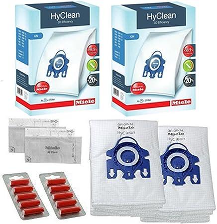 Miele GN sottovuoto Sacchetti aspirapolvere – S400I S600 S800 S2000 S5000 S8000 Originale HyClean + filtri (2 scatole, 10 profumi)