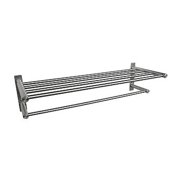 BOANN BNBATSR Stainless Steel Wall Mounted Towel Shelf/Rack and Bar ...