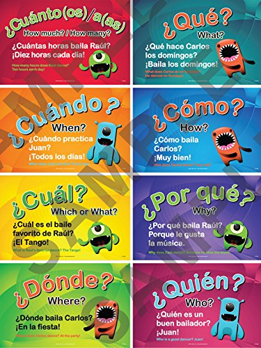 Questions Poster Set of 8 (Spanish) -