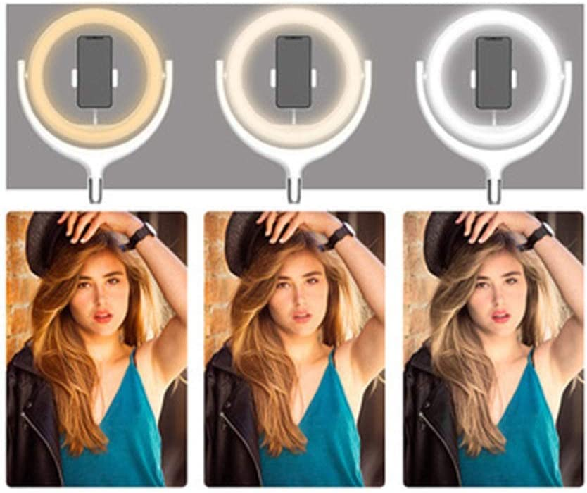 Ybriefbag-Accessories 30cm 12inch Live Fill Light Mobile Phone Bracket Led Ringlight Flashes Anchor Self-Timer with Photography Tripod Color : Black, Size : 10inch
