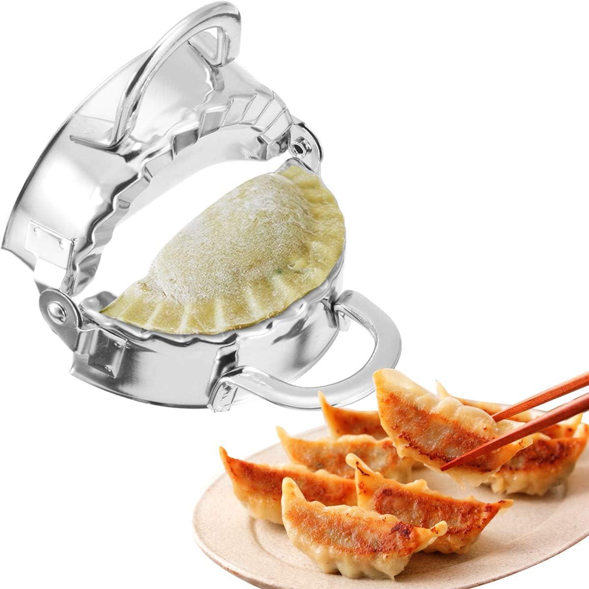 Handmake Stainless Steel Dumpling Maker DIY Dumplings Dumpling Tool Dumpling Maker Press Dumpling Molds Stainless Steel Ravioli Stainless Dumpling Tool for Home Dumplings Kitchenware 2 Piece