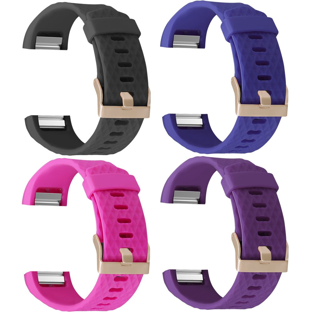 Hanlesi Strap for Fitbit Charge 2 Soft TPE Design Replacement Band Bracelet