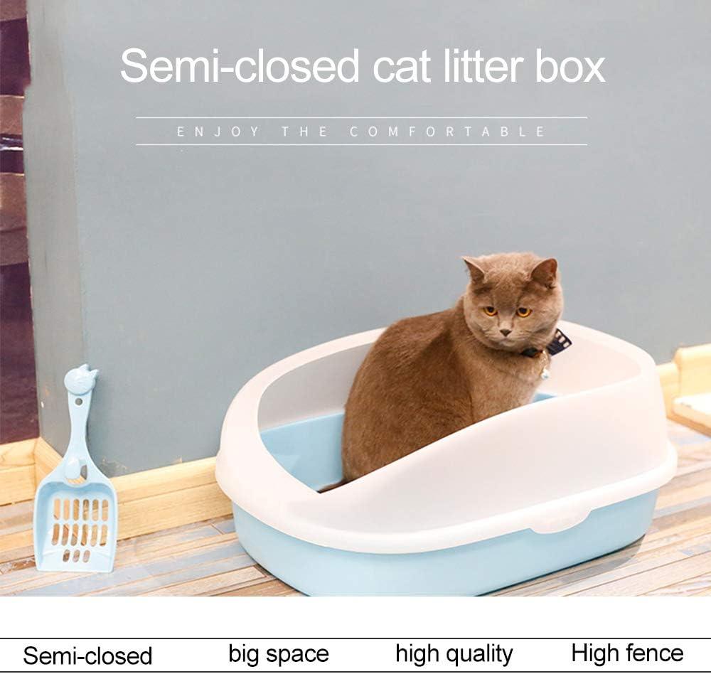 Apple Green IHOMYIPET Large Cat Litter Box With Cat Litter Scoop,Open top Kitten Litter Tray Pet Deep Toilet Loo