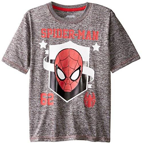 Marvel Boys' Spiderman Cationic Space Dye T-Shirt With Foil Print