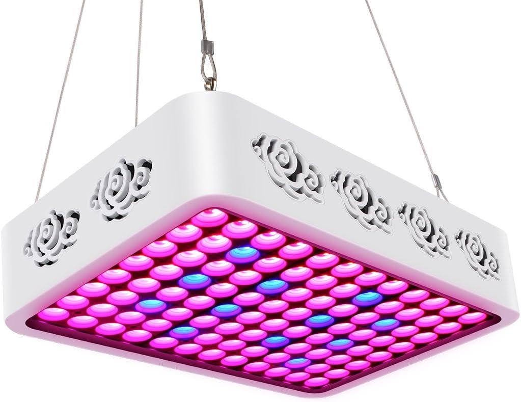 Lampara de Cultivo TOPLANET Reflector 300w Led Grow Light LED Luz para Plantas Espectro Completo Ligero para Interior/Invernadero/Hydroponic Planta Crecimiento
