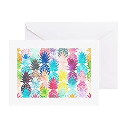 Amazon cafepress hawaiian pineapple pattern tropical cafepress hawaiian pineapple pattern tropical greeting cards greeting card 10 pack m4hsunfo