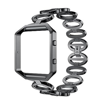 Amazon.com : ANCOOL Band Compatible Fitbit Blaze, Elliptical Style ...